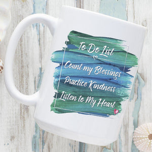 To Do List 15oz Ceramic Coffee Mug