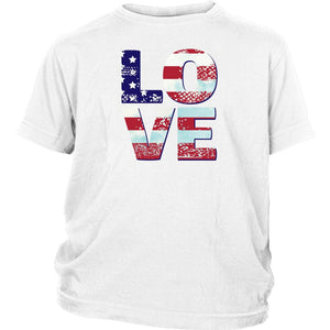 Patriotic Love Youth T-shirts