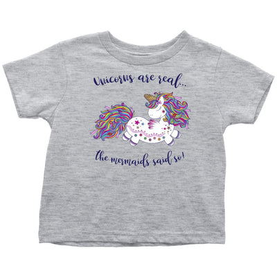 Unicorns Are Real • Baby & Kids Tees T-shirt teelaunch Toddler Tee Heather Grey 2T