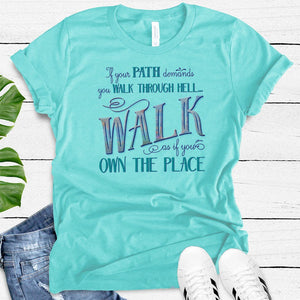 Walk Through Hell Colorful Design Women's TriBlend Althetic Tee