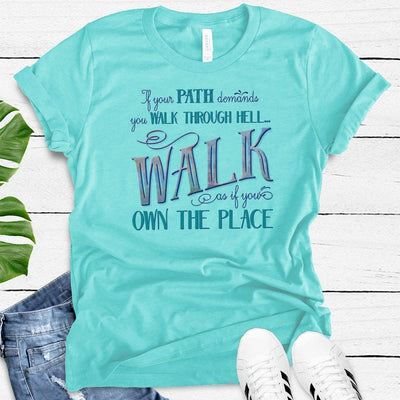Walk Through Hell Colorful Design • Women's TriBlend Althetic Tee T-shirt teelaunch Tahiti Blue S