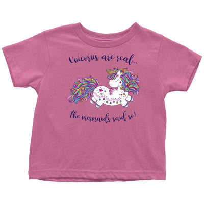 Unicorns Are Real • Baby & Kids Tees T-shirt teelaunch Toddler Tee Raspberry 2T