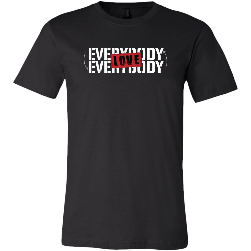 Love Everybody Unisex Tees & Tanks T-shirt teelaunch Crew Neck Black S