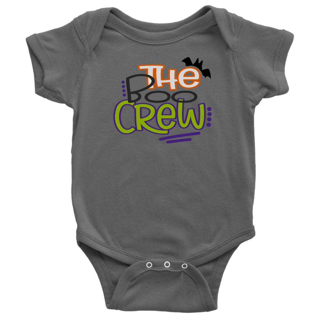 The Boo Crew • Kids & Babies Tops T-shirt teelaunch Onsie Asphalt NB