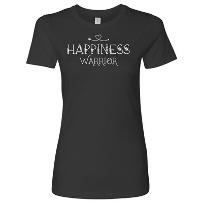 Happiness Warrior • Women's Tees & Tank Tops T-shirt teelaunch Cotton Tee Heavy Metal S