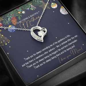 CZ Heart Pendant • Christmas Message To My Mother Jewelry ShineOn Fulfillment