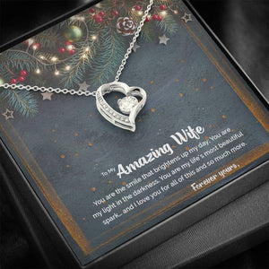 CZ Drop Pendant • Christmas Message To My Wife Jewelry ShineOn Fulfillment