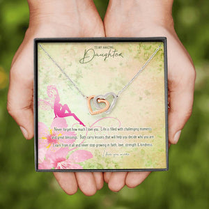 Double Heart Pendant • Custom Message Card To Daughter, Love Jewelry ShineOn Fulfillment