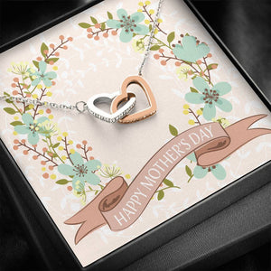 INTERLOCKING HEARTS MOTHER'S DAY PENDANT • HAPPY MOTHER'S DAY MESSAGE CARD Jewelry ShineOn Fulfillment Standard Box