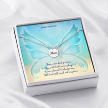 Condolence Angel Wing Necklace for Loss of Mother Gift Jewelry ShineOn Fulfillment Polished Stainless Steel