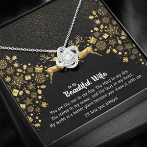 Love Knot Necklace • Holiday Message To My Wife Jewelry ShineOn Fulfillment