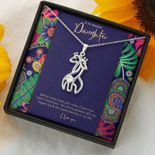 Mother's Love Giraffe Pendant • To Daughter, Love Mother Jewelry ShineOn Fulfillment