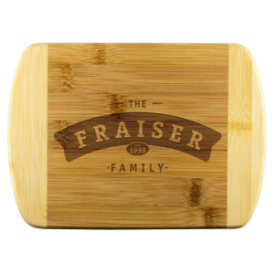 "Family Name Cutting Board • Customizable with Family Name Wood Cutting Boards teelaunch Small - 8""x5.75"""