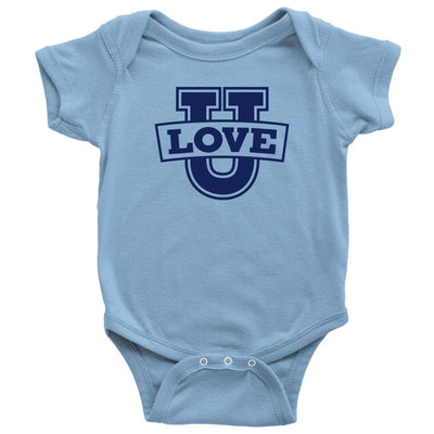Love U • Babies & Kids Tees T-shirt teelaunch Onsie Light Blue NB