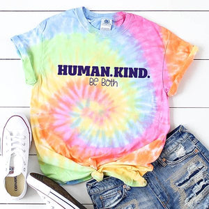 Human Kind Be Both Tie Dye Unisex T-Shirt