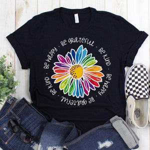 Gail's Rainbow Kindness Daisy Unisex Tees and Tanks
