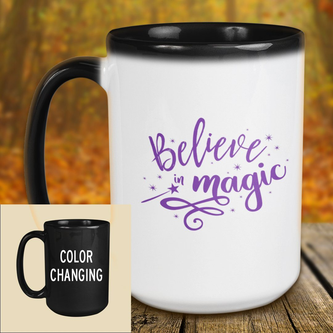 Believe In Magic • 15oz. Color Changing Halloween Mug Drinkware CustomCat Color Change