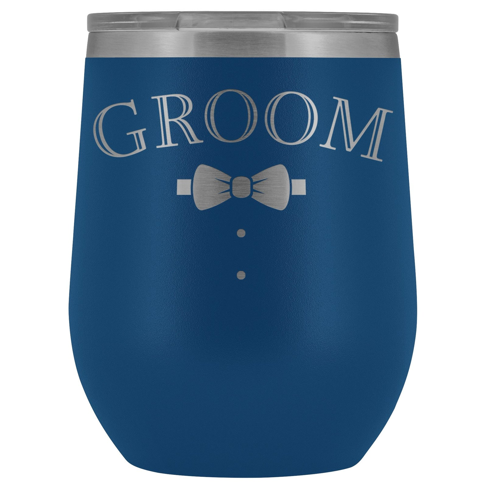 For The Groom Engraved 12oz. Wine Tumbler