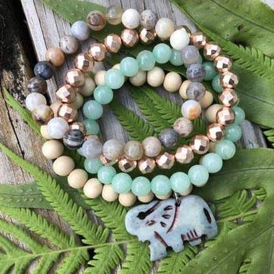 Clarity Gem Stack Bracelet Jewelry Faire – Wonderlust & Zeal Blissful Wisdom