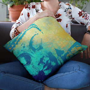 Tree Of Life Buddha Throw Pillow