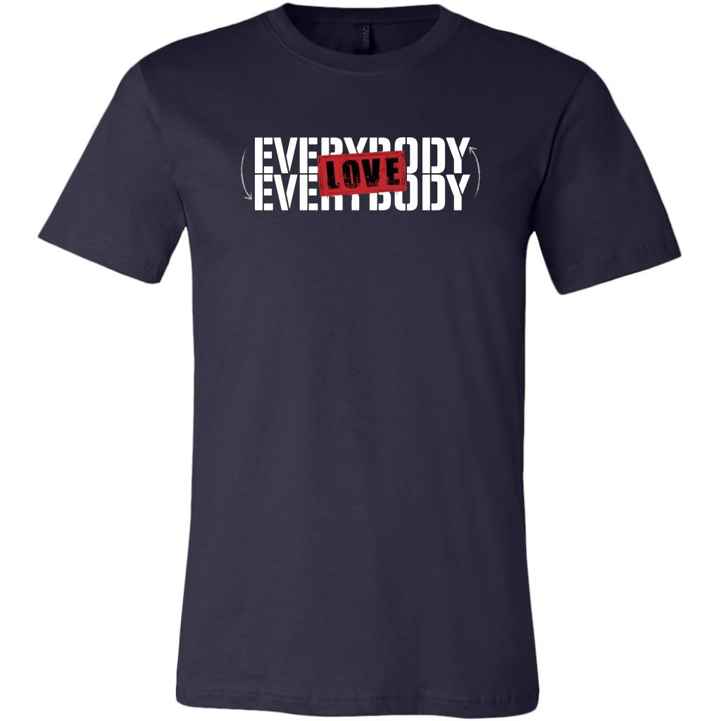 Love Everybody Unisex Tees & Tanks T-shirt teelaunch Crew Neck Navy S
