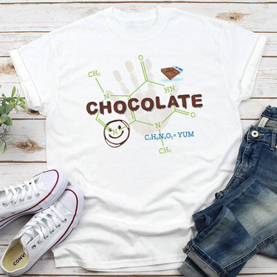 Chocolate Molecule Theobromine • Unisex T-Shirts for Chocolate Lovers T-shirt teelaunch Unisex Tee White S