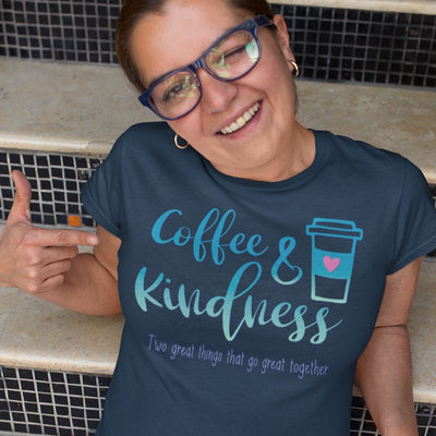 Coffee & Kindness Go Great Together • Women's DriFit Athletic Tee T-shirt teelaunch
