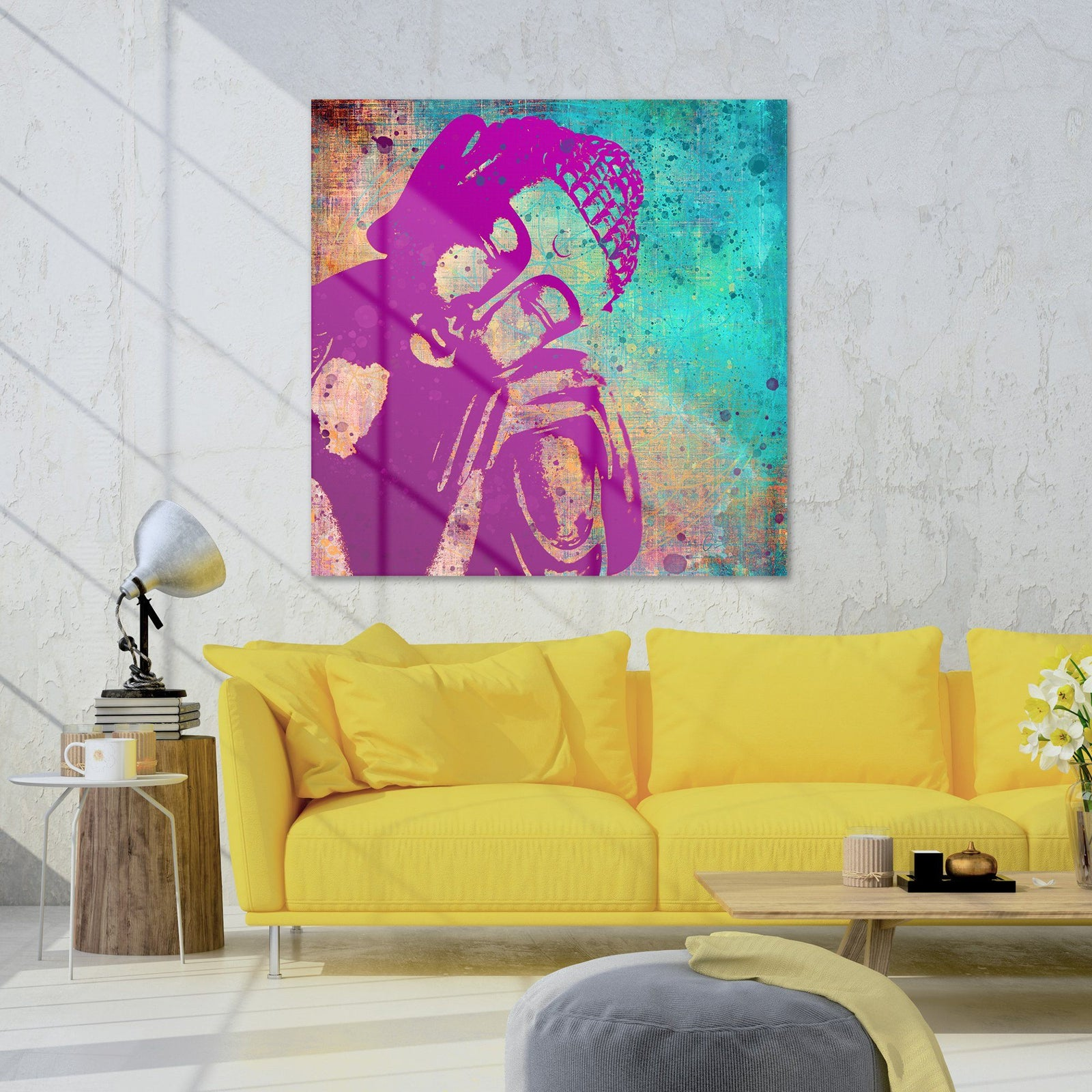 Reflections of Nirvana Peaceful Resting Buddha Canvas Wall Art