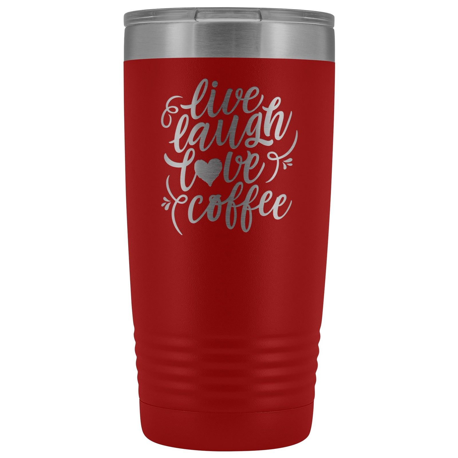 Live, Laugh, Love, Coffee • 15oz Insulated Coffee Tumbler Tumblers teelaunch Red