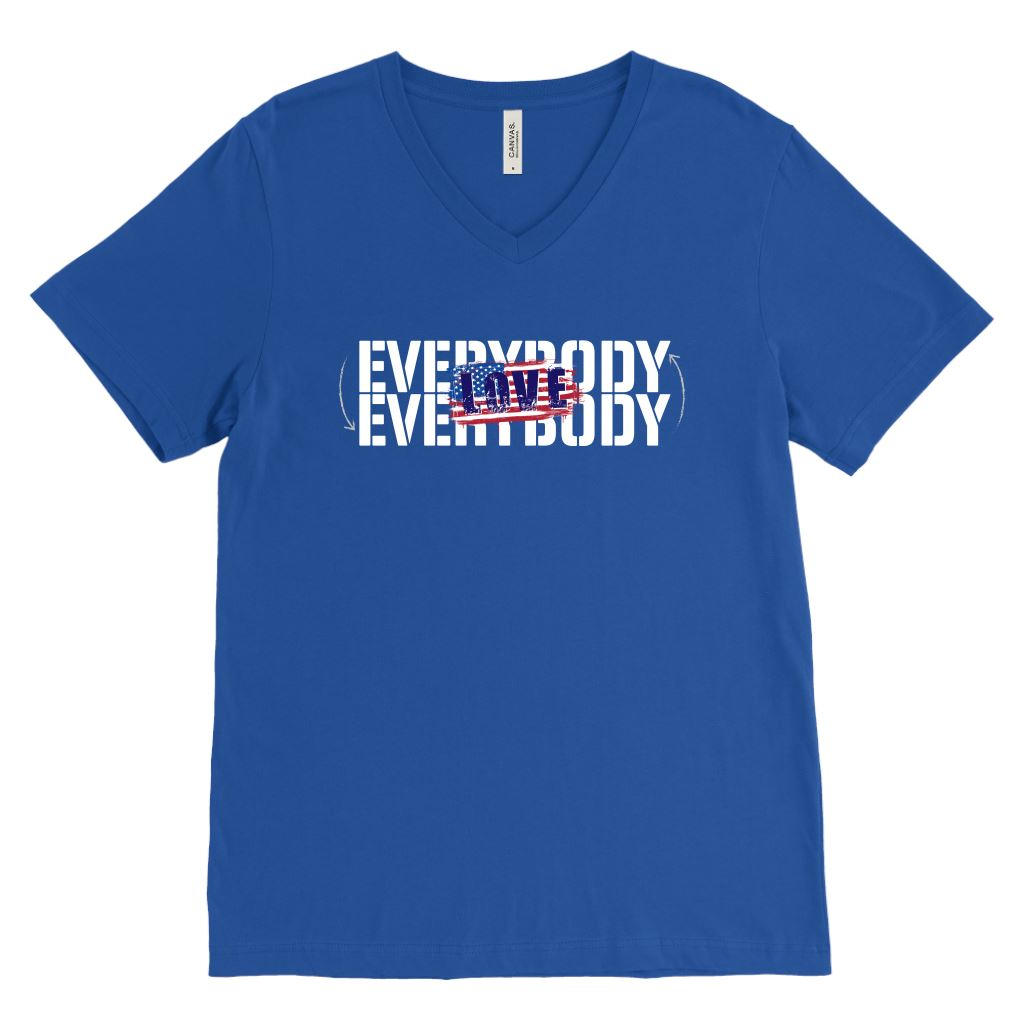 Everybody Love Everybody Patriotic • Unisex Tees & Tanks T-shirt teelaunch V-Neck Royal S
