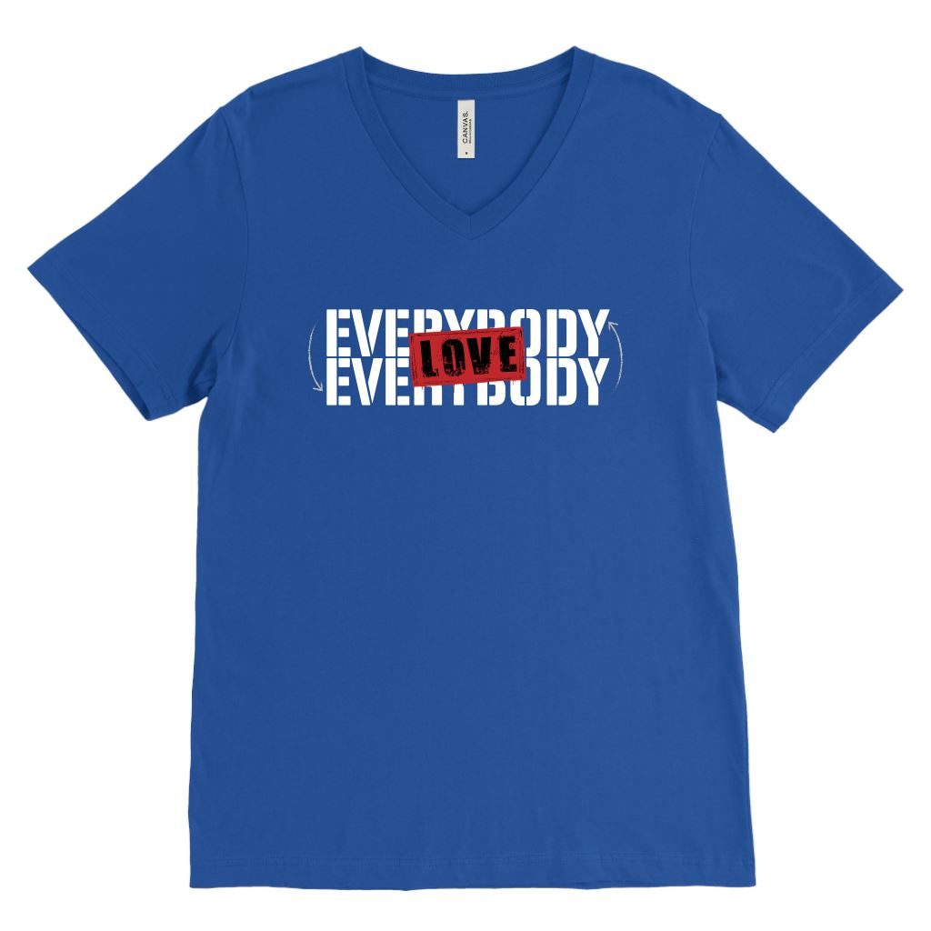 Everybody Love Everybody • Unisex Tees & Tanks T-shirt teelaunch Canvas Mens V-Neck Royal Blue S