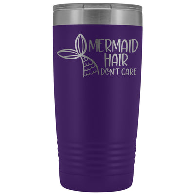Mermaid Hair, Don't Care • 20oz. Insulated Tumbler Tumblers teelaunch Purple