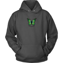 Mental Health Matters Hoodie • Green Butterfuly Sweatshirt T-shirt teelaunch Unisex Hoodie Charcoal S