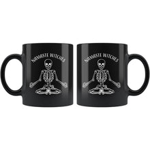 Namaste Witches Funny Halloween 11oz. Black Mug Drinkware teelaunch