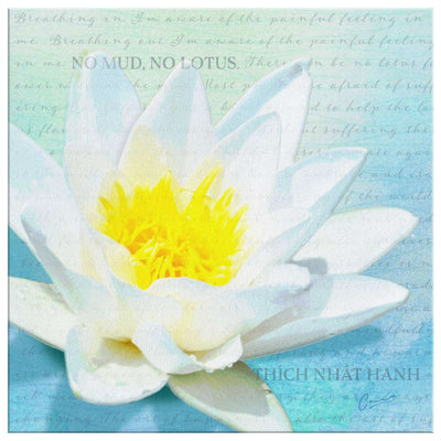 No Mud, No Lotus Canvas Wall Art Canvas Wall Art 2 teelaunch 8 x 8