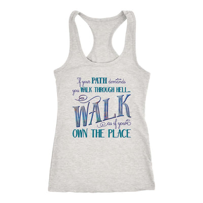 Walk Through Hell • Women's Tank Top T-shirt teelaunch Heather Grey S