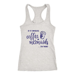 Coffee or Mermaids Women's Bright Tank Tops