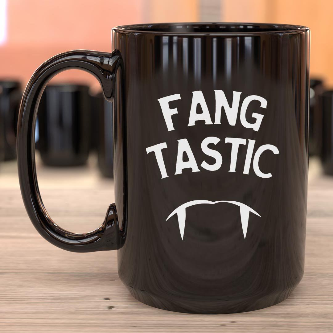 Fangtastic • 15oz. Halloween Mug Drinkware CustomCat Fangtastic