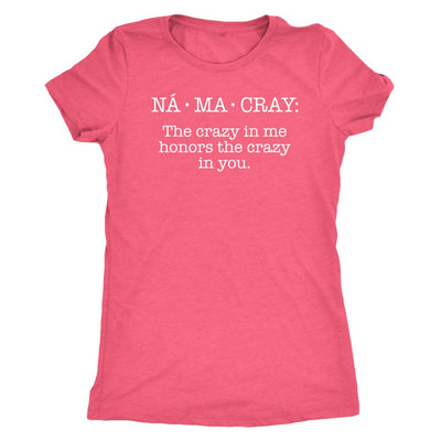 Na•Ma•Cray • Women's DriFit Athletic Tee T-shirt teelaunch Vintage Light Pink S