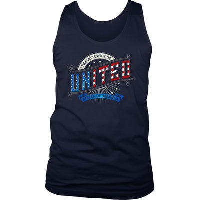I Thought I Lived in the UNITED States of America • Men's T-shirts & Tanks T-shirt teelaunch District Mens Tank Navy S