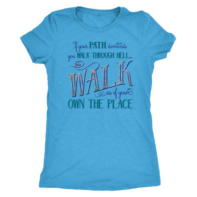 Walk Through Hell Colorful Design • Women's TriBlend Althetic Tee T-shirt teelaunch Vintage Turquoise S