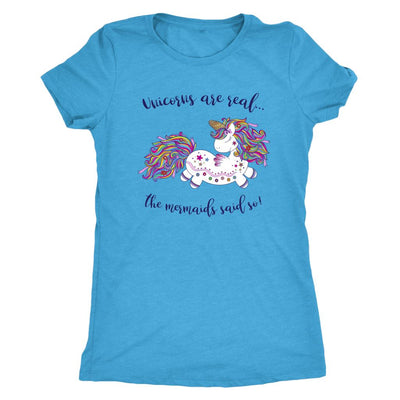 Unicorns Are Real • Women's Tees T-shirt teelaunch DriFit Tee Vintage Turquoise S