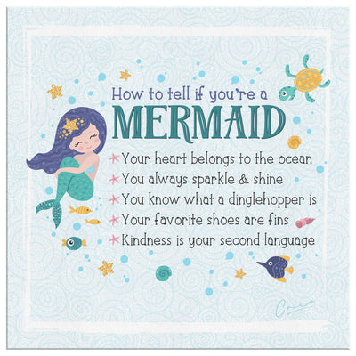 How To Tell If You're a Mermaid • Canvas Wall Art Canvas Wall Art 2 teelaunch 8 x 8
