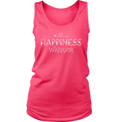 Happiness Warrior • Women's Tees & Tank Tops T-shirt teelaunch Wide Strap Tank Neon Pink S