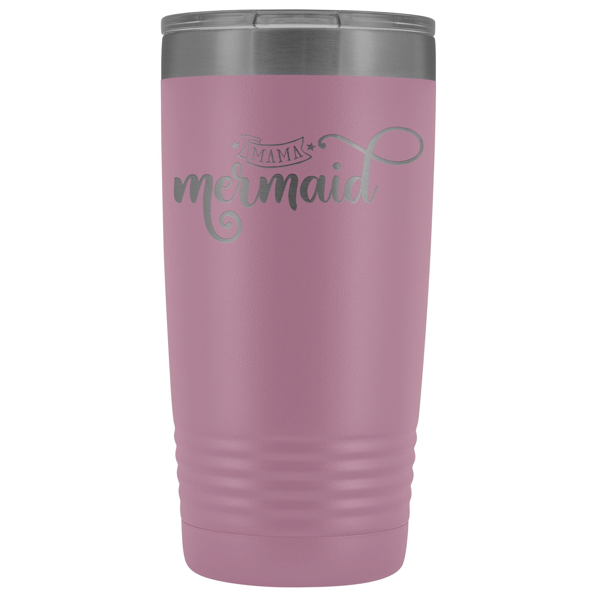 Mama Mermaid • 20oz. Insulated Coffee Tumbler Tumblers teelaunch Light Purple