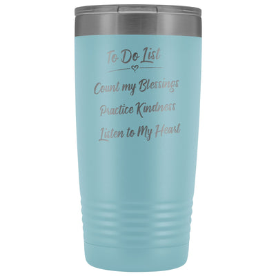 To Do List • 20oz Insulated Coffee Tumbler Tumblers teelaunch Light Blue