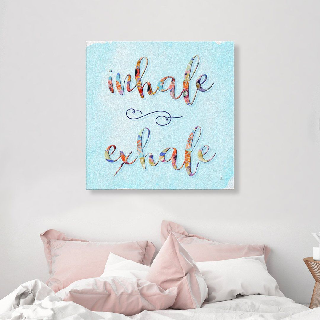 INHALE EXHALE Wall Canvas Canvas Wall Art 2 teelaunch 8 x 8
