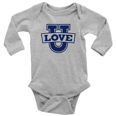 Love U • Babies & Kids Tees T-shirt teelaunch Long Sleeve Onsie Heather Grey NB
