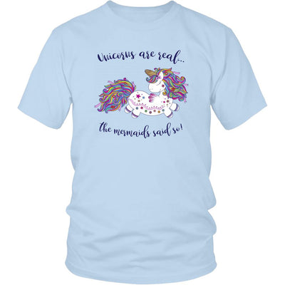 Unicorns Are Real • Women's Tees T-shirt teelaunch Unisex Tee Ice Blue S