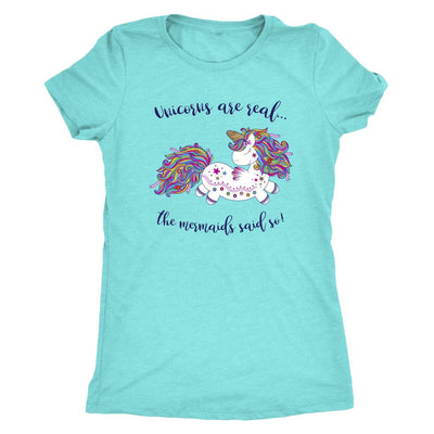 Unicorns Are Real • Women's Tees T-shirt teelaunch DriFit Tee Tahiti Blue S